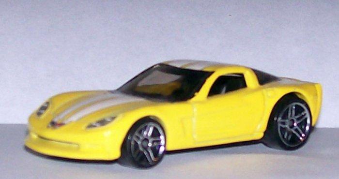 HOT WHEELS 2007 #159 MYSTERY CAR CORVETTE C6 YELLOW