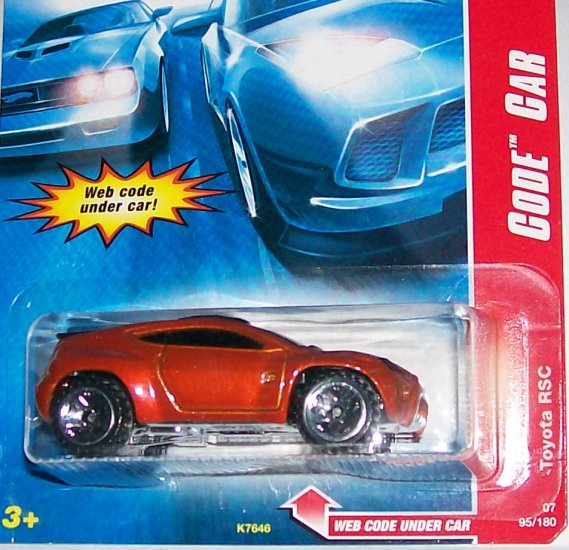 "HOT WHEELS 2007 CODE CAR #95 ""TOYOTA RSC"""