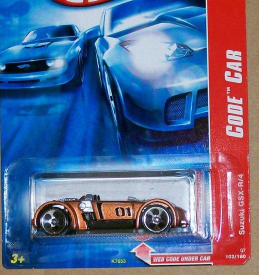 """HOT WHEELS 2007 CODE CAR #102 """"SUZUKI GSX-R/4"""""""