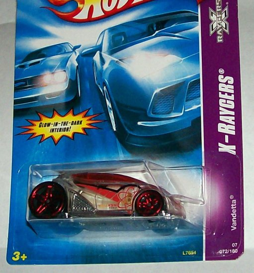 "HOT WHEELS 2007 #72  X-RAYCERS ""VANDETTA"""