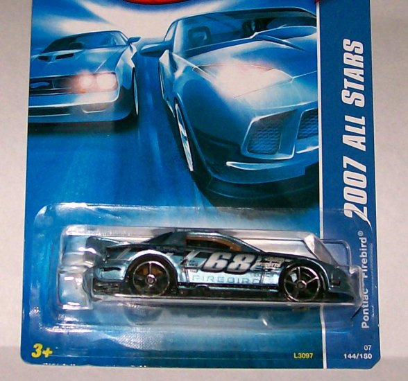 "Hot Wheels 2007 ALL STARS #100 ""PONTIAC FIREBIRD"" MF LIGHT BLUE"