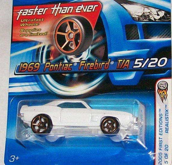 """Hot Wheels 2005 REALISTIX SERIES #5 FE """"69 FIREBIRD"""" FTE WHEELS"""