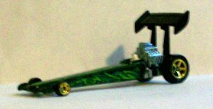 """HOT WHEELS 2007 CLOVER CAR """"DRAGSTER"""" LOOSE"""