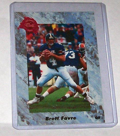 """1991 CLASSIC DRAFT PICKS #129 """"BRETT FAVRE"""" ROOKIE"""