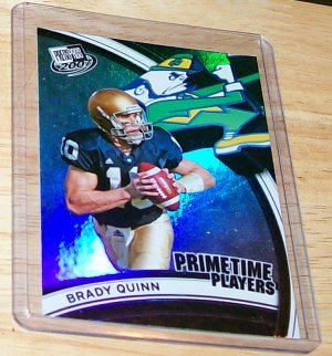 "PRESS PASS 2007 ""BRADY QUINN"" PRIMETIME PLAYERS PP-1"