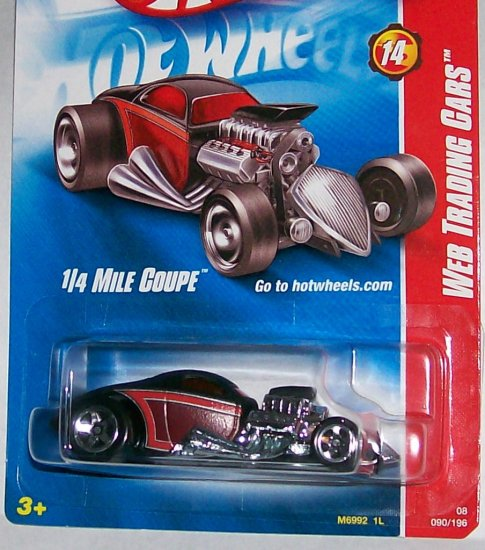 """Hot Wheels 2008 WEB TRADING CARD """"1/4 MILE COUPE"""" #90"""