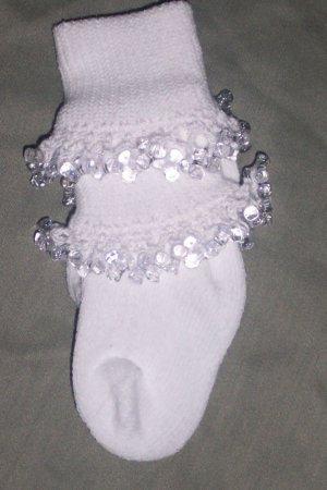 toddler girls fancy Beaded Socks Size 6-10.5