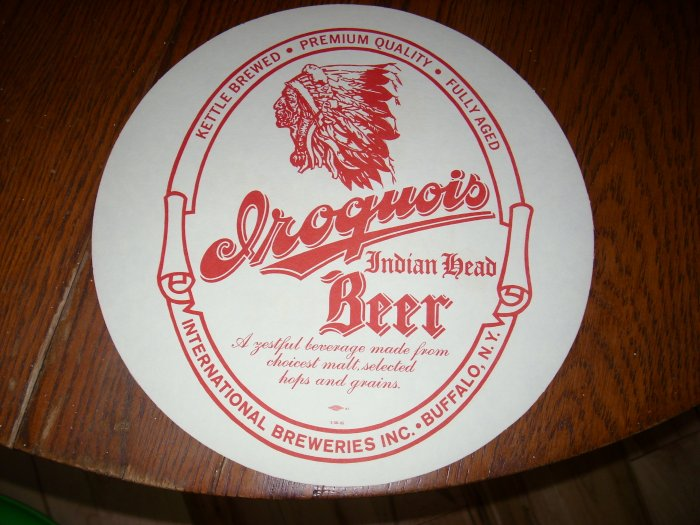 Iroquois Indian Head Beer Tray Coaster