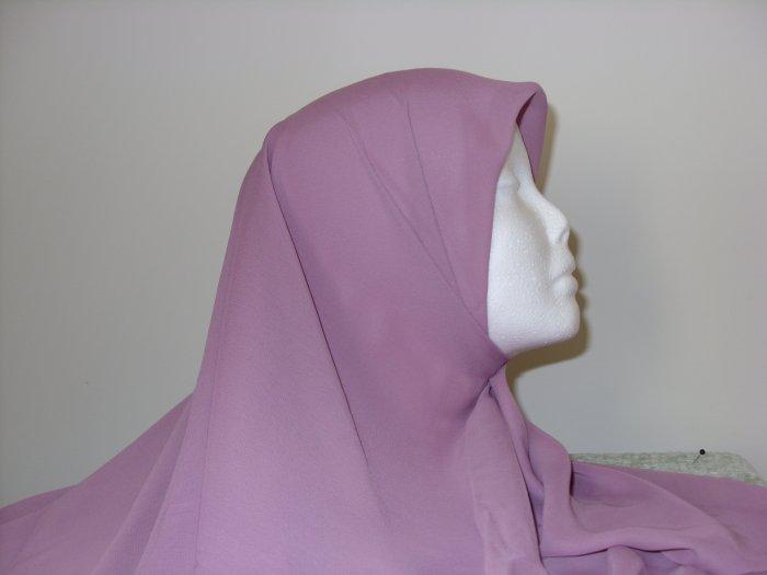 rose colored chiffon hijab