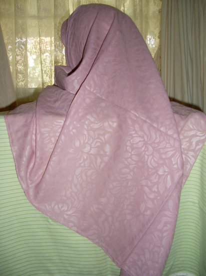Hijab Rose Pink color soft Damask scarf