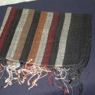 Black striped shawl, shayla, hijab