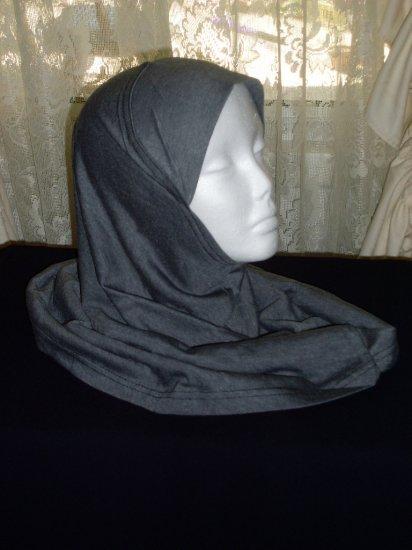 Charcoal 1 piece amira style hijab