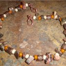 Forgotten Temple bracelet - Leopardskin jasper & antique copper