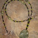 Mossy Grotto necklace - moss jasper