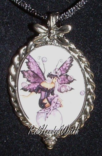 AMY BROWN COUNTING WISHES FAIRY CAMEO PENDANT Necklace