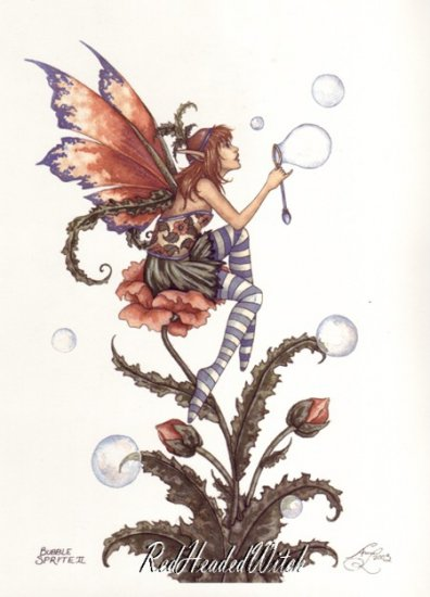 NEW AMY BROWN Print BUBBLE SPRITE 2 8.5 x 11 FAIRY Fae