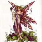 AMY BROWN Print WINE NYMPH 8.5 x 11 FAIRY FAERY RETIRED