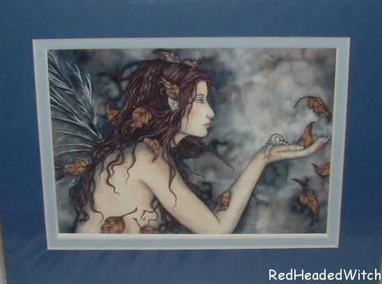 AMY BROWN Print AUTUMN WHISPERS Fae FAIRY MATTED Print