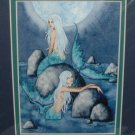 AMY BROWN Print SIRENS MERMAID Mermaids MATTED Print