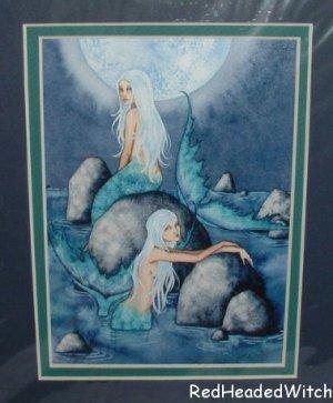 AMY BROWN Print SIRENS MERMAID Mermaids MATTED Print