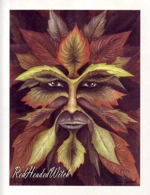 JESSICA GALBRETH Print THE GREEN MAN 8.5x 11 Wiccan