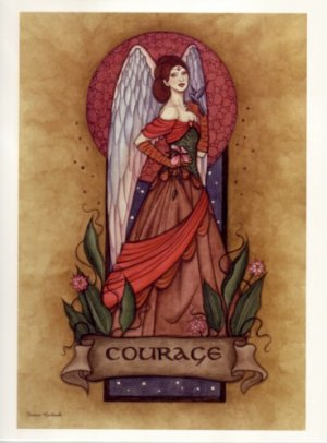 NEW JESSICA GALBRETH Print COURAGE ANGEL 8.5 x 11 Fairy