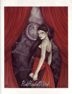 NEW JESSICA GALBRETH Print GYPSY 8.5 x 11 Faery WITCH