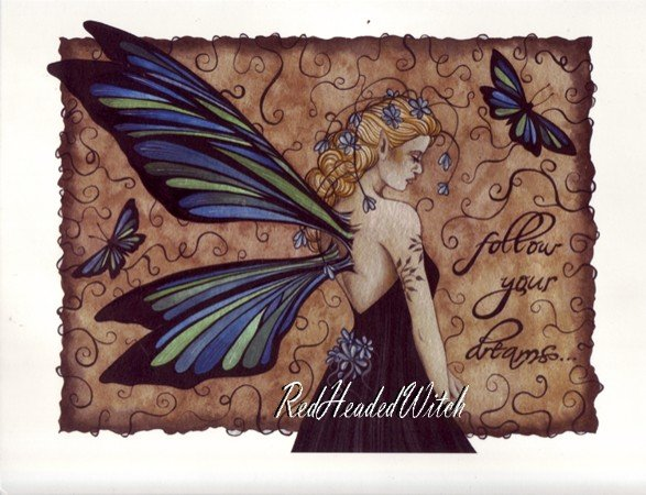 JESSICA GALBRETH Print FOLLOW YOUR DREAMS 8.5x11 Fairy
