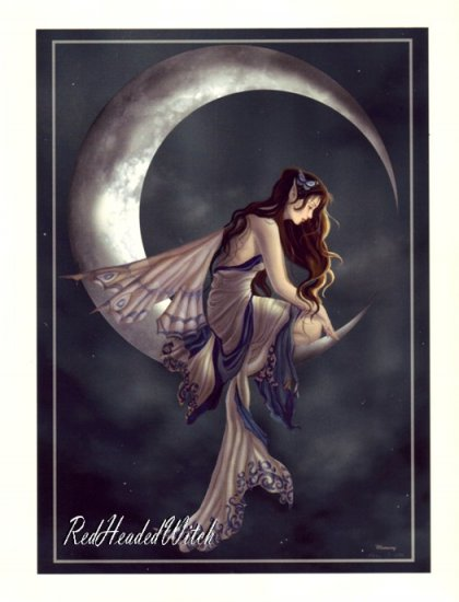 NEW NENE THOMAS Print MEMORY Moon FAERY FAIRY FAE