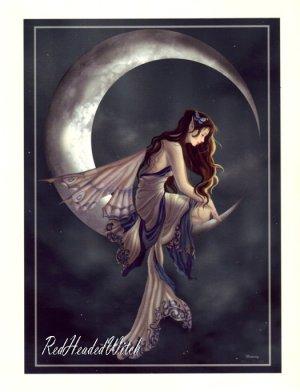 NEW NENE THOMAS Print MEMORY Moon FAERY FAIRY FAE