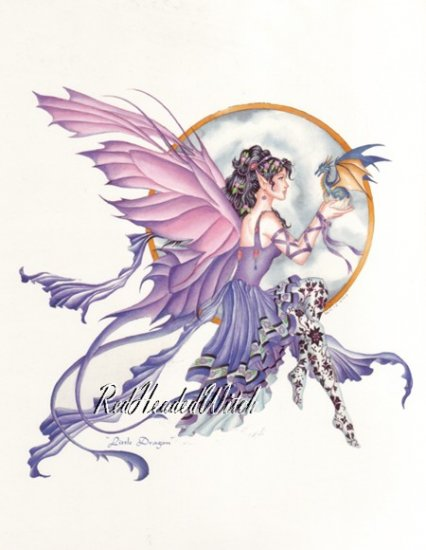 NENE THOMAS Print LITTLE DRAGON 8.5 x 11 FAIRY FAERY