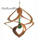 New COPPER WIND SPINNER Green Tear Drop Chime Spinners