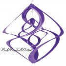 New PURPLE DOUBLE WIND SPINNER chime spinners GARDEN