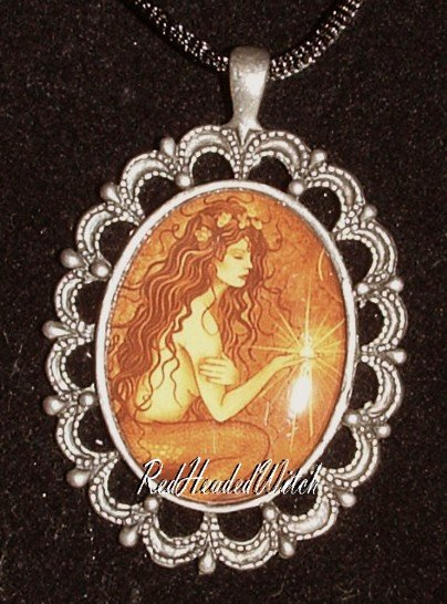JESSICA GALBRETH MERMAID WISH CAMEO PENDANT Necklace