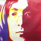 """C03 red blue JOHN LENNON Pop Art Oil Painting 30""""30"""