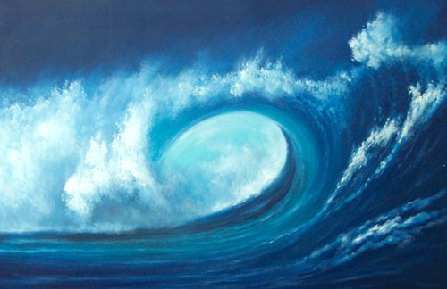 L45 Sea Wave Pop Art Painting on Canvas