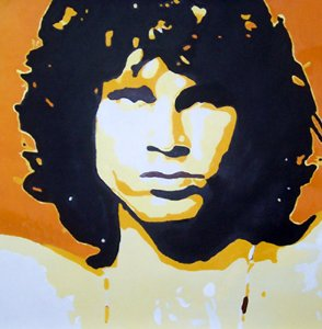 C33 Jim Morrison Modern Pop Art painting on Canvas