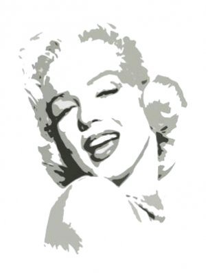 "Sexy Marilyn Monroe Grey Pop Art Painting on Canvas Free Shipping 12""x16""-019"
