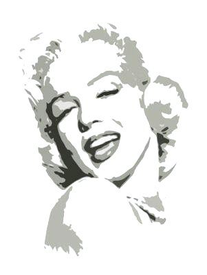 "Marilyn Monroe Grey Pop Art Painting on Canvas Free Shipping 12""x16""-019"
