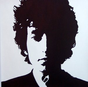 "074 Protrait of BOB DYLAN Pop Art Modern Painting 20""20 Free Shipping to North America"