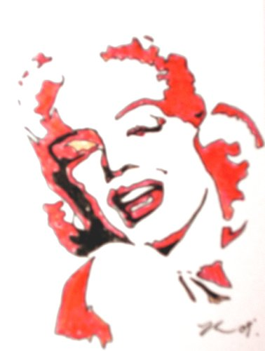 "c05 ACEO Marilyn Monroe Original Drawing 2.5 x3.5"" Free Shipping"