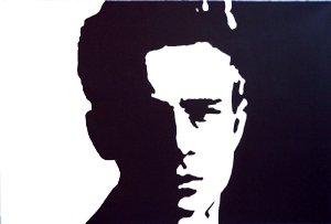 "c06 ACEO James Dean Pop Art Original Drawing 2.5 x3.5"" Free Shipping"