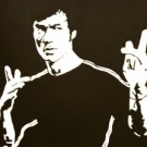 "c07 ACEO Bruce Lee Kung Fu Pop Art Original Drawing 2.5 x3.5"" Free Shipping"