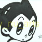 "c15 ACEO Astro Boy Pop Art Original Drawing 2.5 x3.5"" Free Shipping"