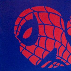 "SPIDERMAN In Blue Pop Art Painting 20""20-- 073"