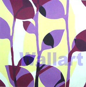 065 Leaf Graphic Pattern Mod Pop Art Painting on Canvas