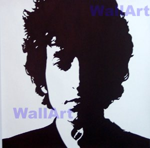 "074 Protrait of BOB DYLAN Pop Art Modern Painting 20""20"