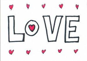 c47 LOVE Aceo Original Graffiti pop art Hand Drawing