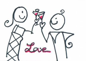 c46 Love cheer Lover Aceo Original pop art Hand Drawing