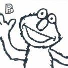 c40 Aceo Original pop art Sesame Street Elmo hand drawing